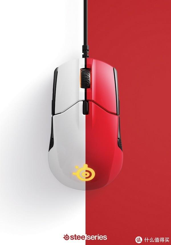 火星红和北极白:SteelSeries 赛睿 发布 Sensei 310 新配色 鼠标