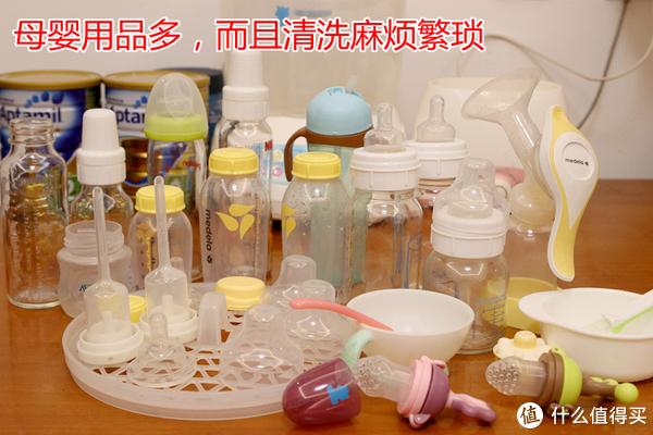 宝宝奶瓶、辅食餐具、磨牙玩具和妈妈的挤奶用品等