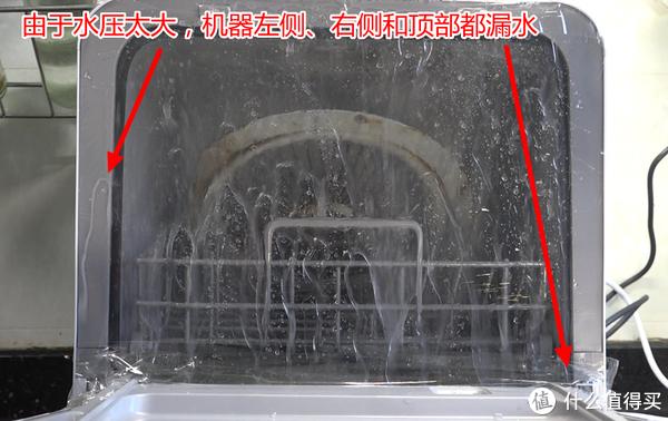 水压太大,导致三侧漏水,实验失败