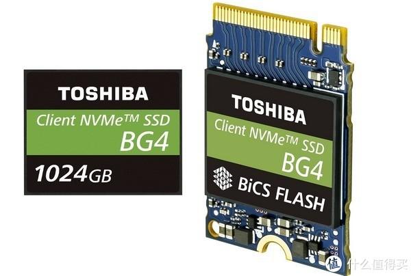 96层3D TLC颗粒:TOSHIBA 东芝 发布 BG4系列 固态硬盘