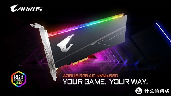 可与主板同步RGB光效:GIGABYTE 技嘉 发布 Aorus RGB AIC NVMe SSD 固态硬盘