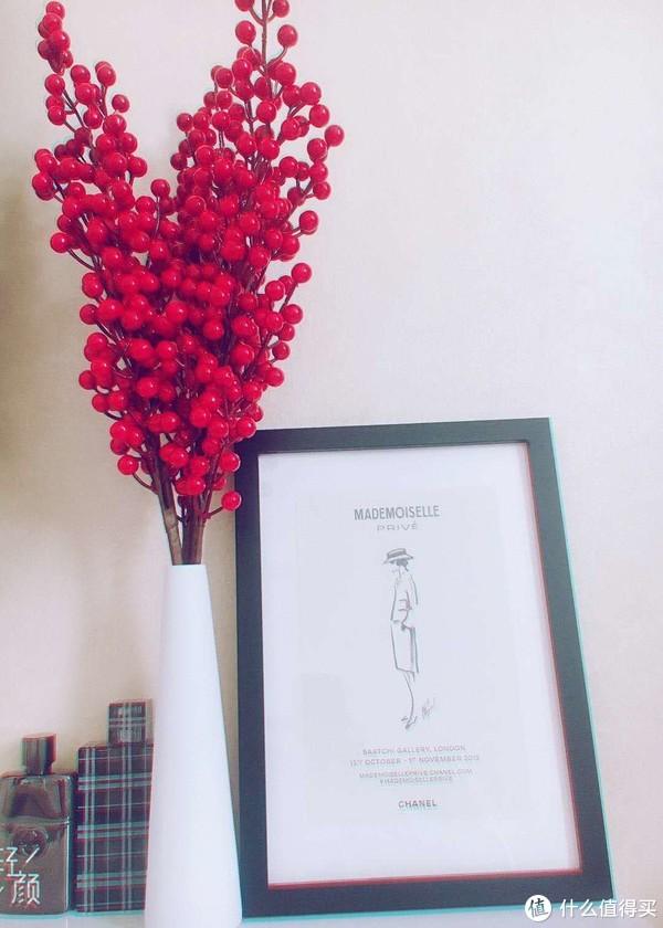 春季开运吉祥物,以假乱真的寓义新年仿真冬青果枝,中国红颜色很正