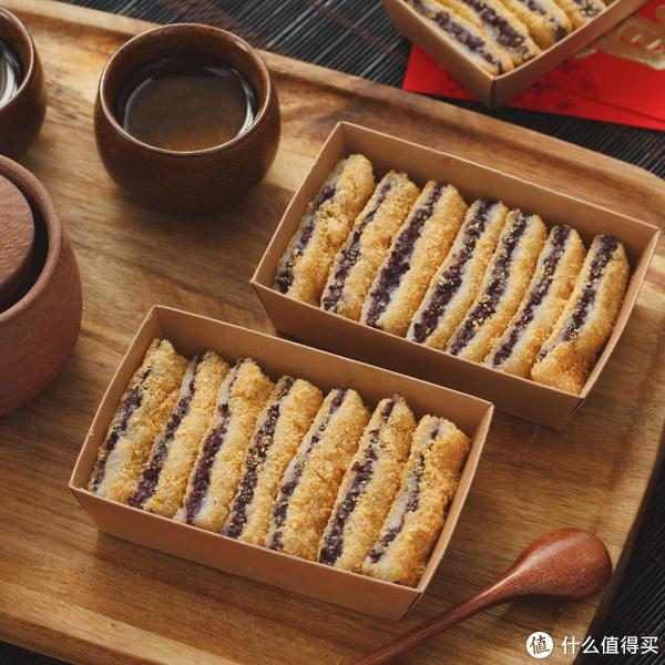 网红紫米豆面年糕