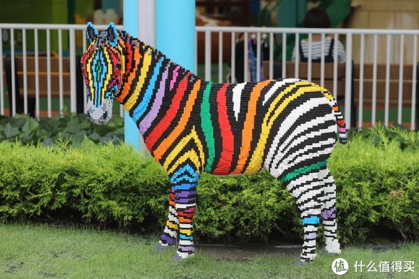 不知彩色熊猫和斑马是不是乐高乐园的标配,在新山也看到了同样的造型。