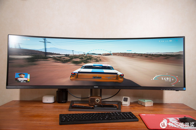 全能型选手就是这么'横' 飞利浦499P9H1 49英寸 5K超宽屏带鱼屏显示器测评分享