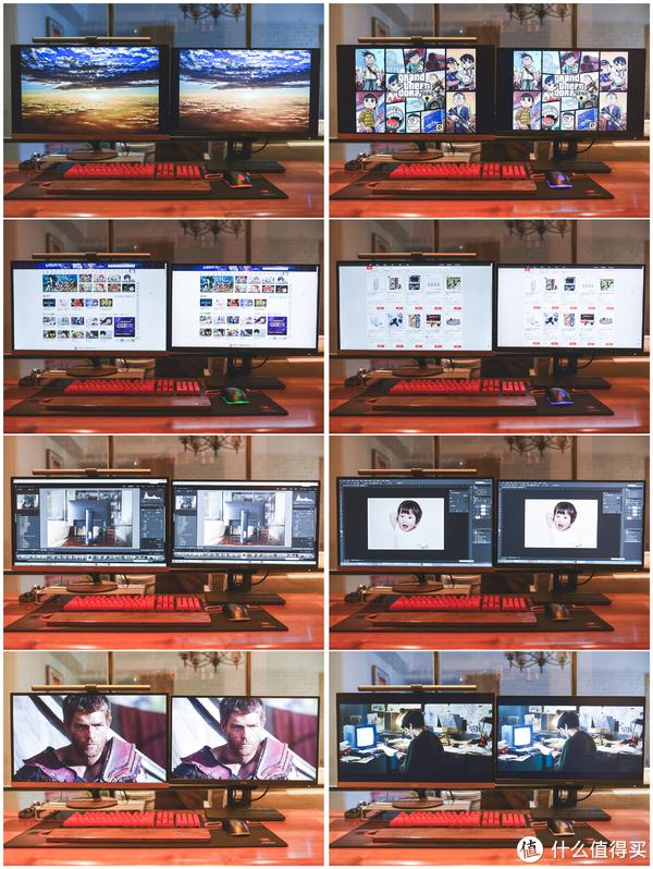 左边是老款的27寸1080p的屏幕,右边是25寸2K的屏幕