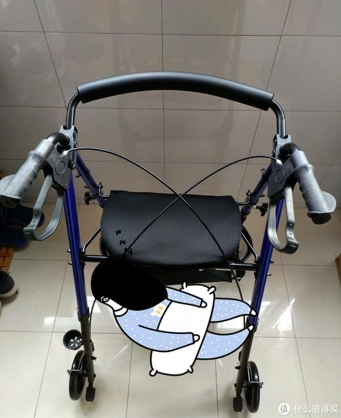 愿天下父母身体健康无病痛之苦——善行者 SunWalker 老人助行器+折叠轻便拐杖 套装