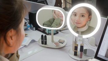 真是神仙级的美颜效果 AMIRO MINI高清日光化妆镜试用