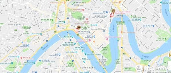 地理位置 1为我的酒店所在地