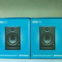 普瑞声纳 Eris E5 有源双功放 监听音箱使用总结(可玩性|接口|功能)