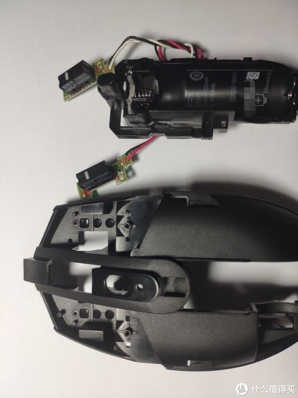 将左右键微动PCB从定位销上取出