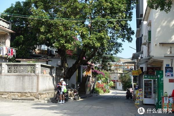 鹏城村入口周围一派悠闲的慢生活景色