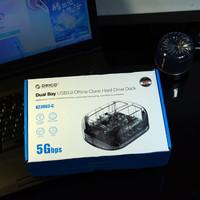 奥睿科6239U3-C桌面硬盘盒底座拷贝机购买理由(功能|空间)