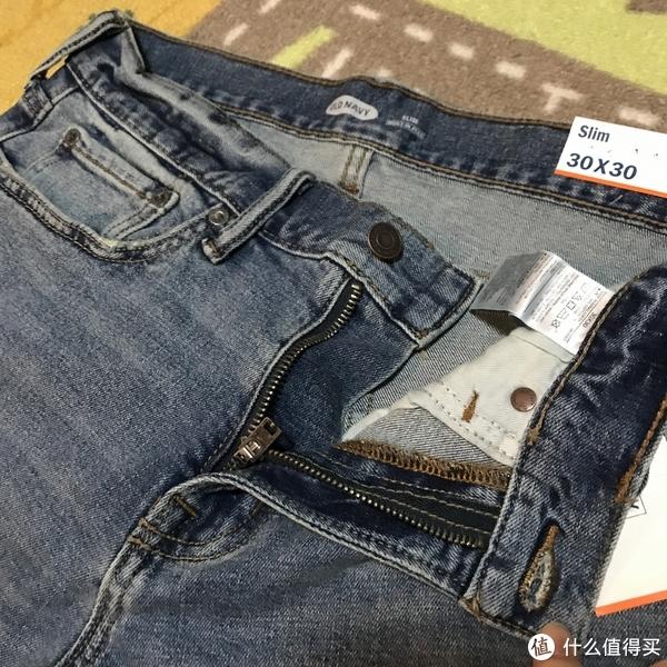实惠之选!OLD NAVY 男士破洞做旧修身牛仔裤