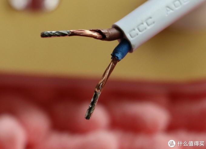 先把两根电线剥掉一点绝缘外皮,让铜线多露出一些,以方便后续连接