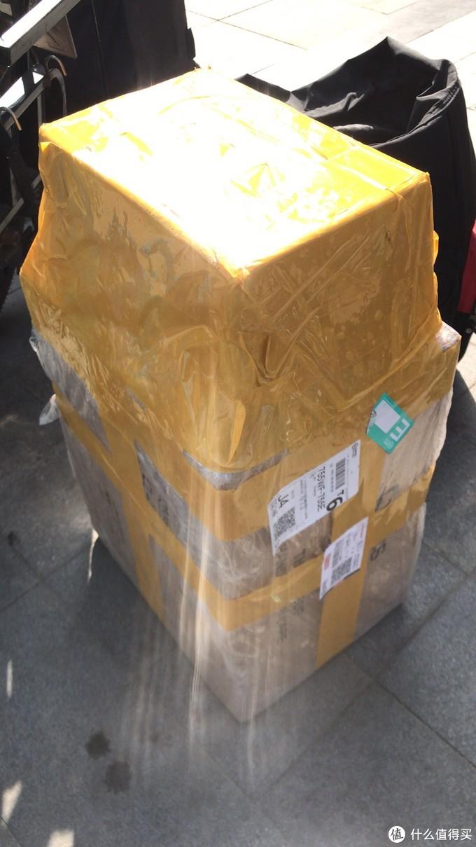 音箱垫和音箱这么大个包装