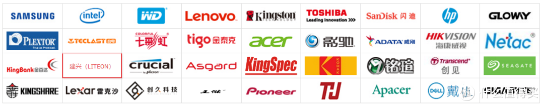京东上部分SSD品牌