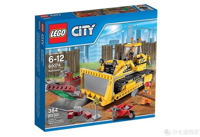 肉质俱佳的 乐高 CITY 城市系列 60074 工程推土机