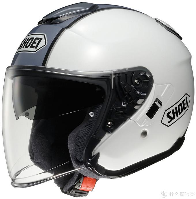 shoei半盔 踏板车用用不错佩戴方便这款还带护目镜(深色镜片那层,收起放下右边s字母旁边有个拨片)