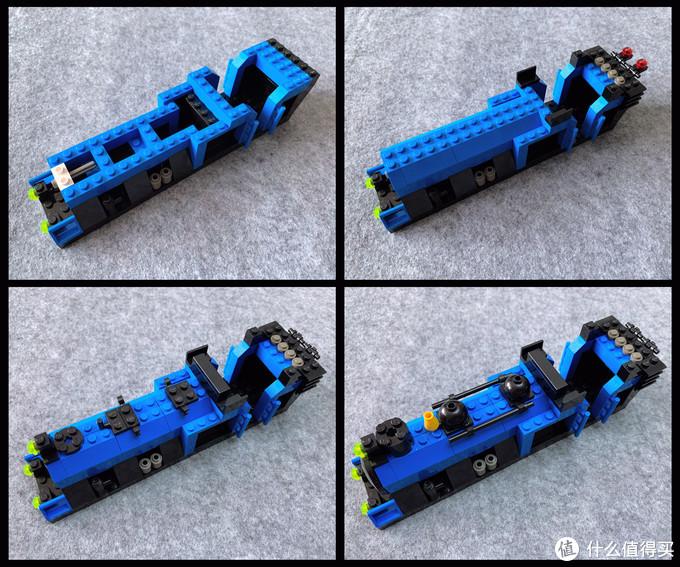 LEGO KT203 浅蓝色大型蒸汽机车