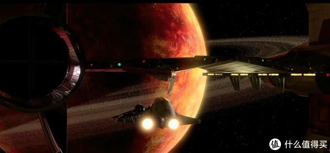 在进行超光速跳跃时二者合一作为整体飞行,达到目的地后,绝地的小型星际截击机可以从驱动器上分离行动