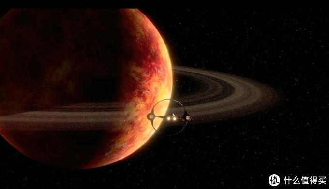 影片中的超空间驱动器是一个环状结构,乍看之下还挺惊艳的,符合东方人对称和谐的审美观,在星球背景下也很协调