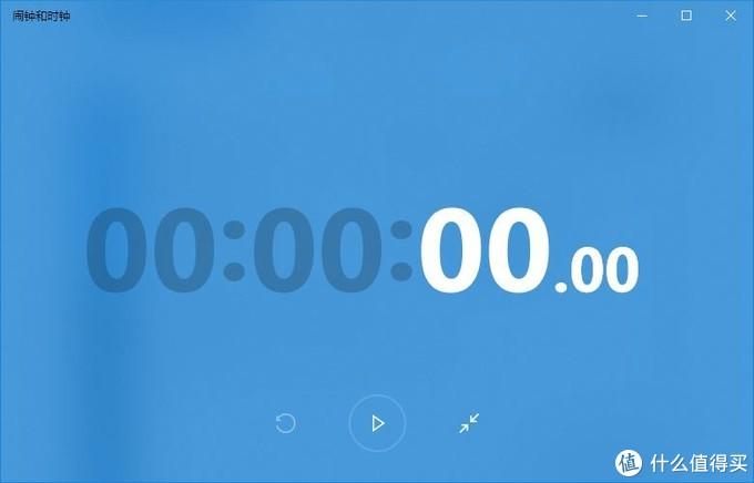 全屏显示的秒表