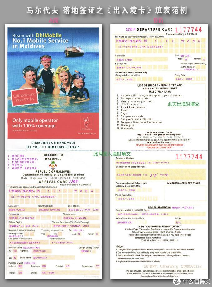 ▲ 马尔代夫的出入境表