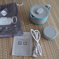 生活元素 电热水壶开箱展示(包装|把手|充电器|内胆)