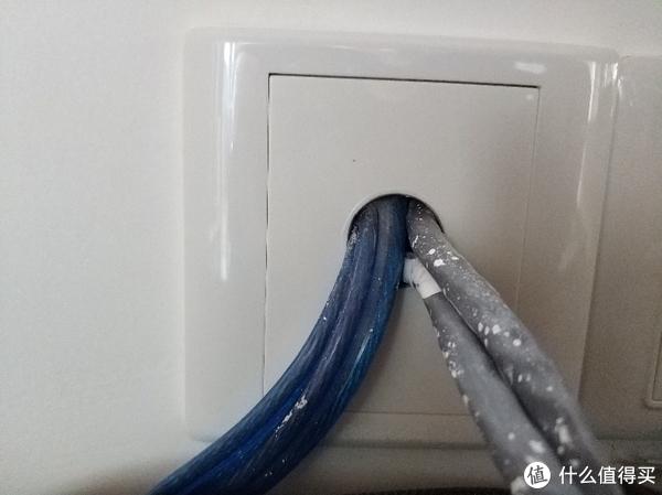 电视柜网线,空白面板开孔,网线直接做水晶头