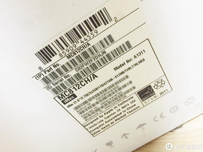 生产年份2011 型号 MC812CH/A