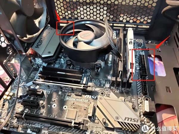 图4.25 右上角的CPU供电 左边的24pin主板供电