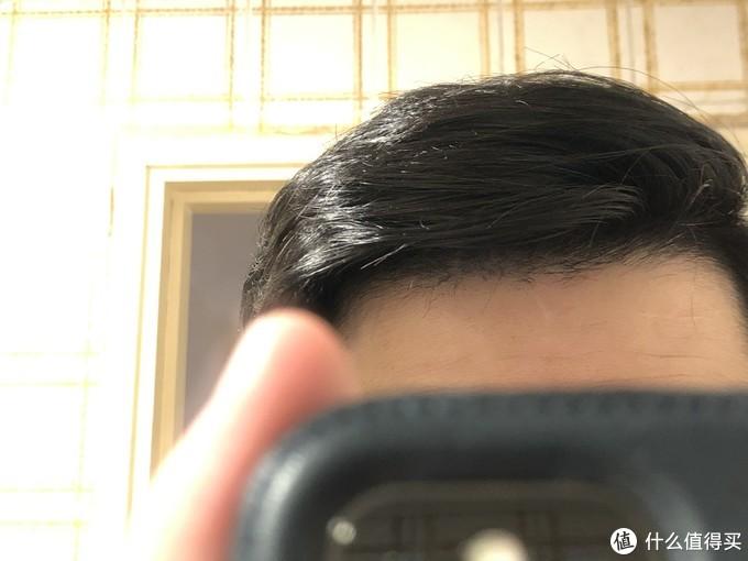 ▲ 头发出油不明显,并没有出现低价无硅洗发水洗后过于干燥,反而导致油头加重的情况。