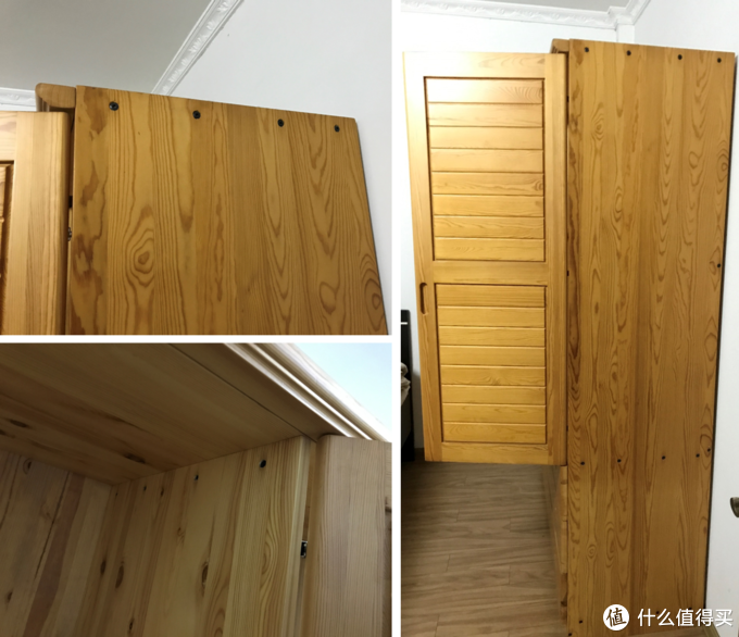 柜体是镙丝比较多,每个连接板,都有4根镙丝固定,整个柜子共有近50根镙丝(不包括柜门铰链上的)。