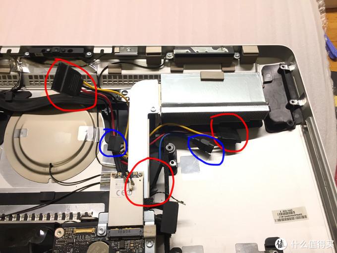 两个硬盘电源及数据线接口