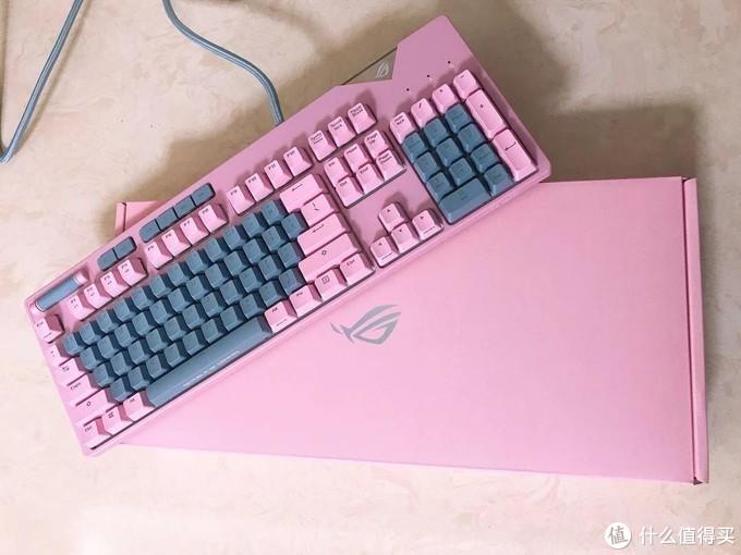 3.8日女神节送给老婆的办公礼物ROG PINK 键鼠套装