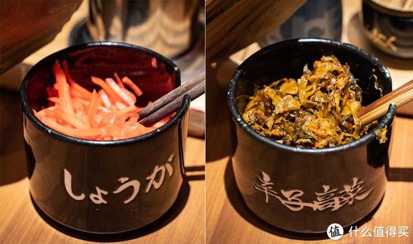 左:红姜 右:辛子高菜