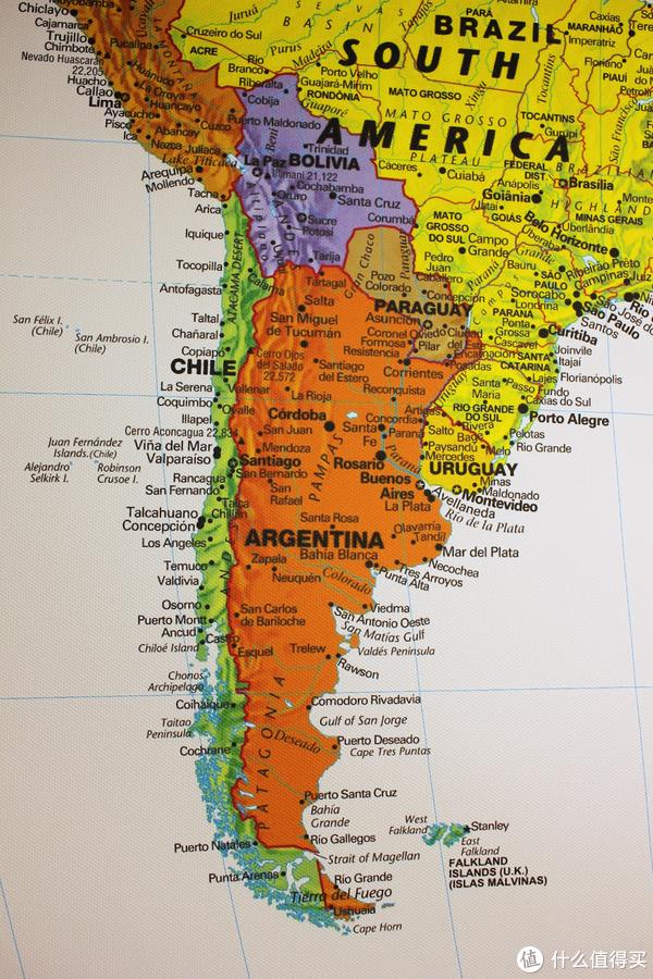 智利,最左边的绿色狭长地带