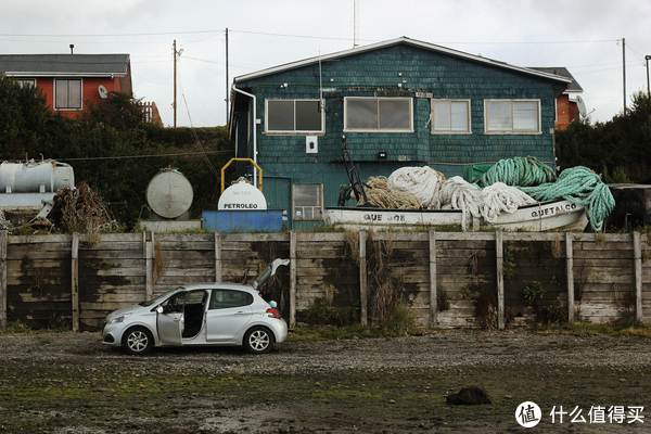 自驾时在一处滩涂附近休息(在Chiloé,非百内公园内)