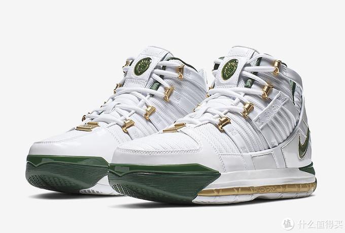 """稀有高中母校配色: NIKE 耐克 将在本月发售 LeBron 3 """"SVSM"""" 复刻篮球鞋"""