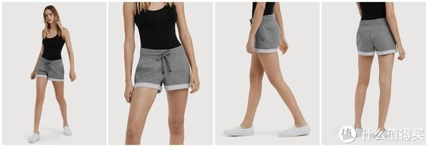 修身短裤(浅灰)