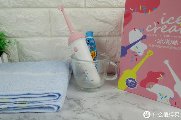 usmile冰淇淋专业分段护理儿童电动牙刷,适合3-12岁儿童使用