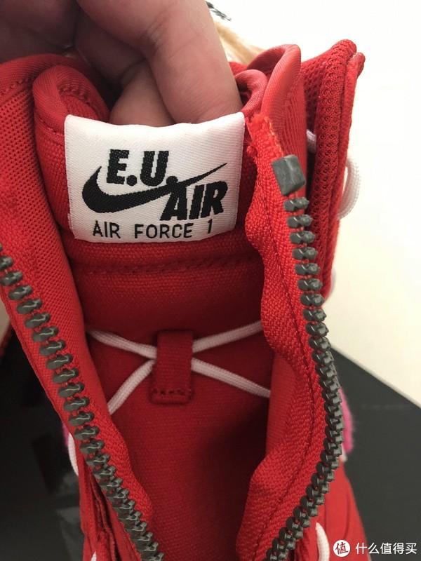本站首晒,开箱E.U.与NIKE联名的情人节限定AIR FORCE 1 HIGH