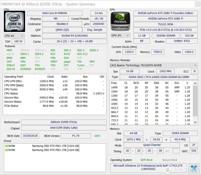 机王争霸!X299E-ITX/AC打造民用ITX机王