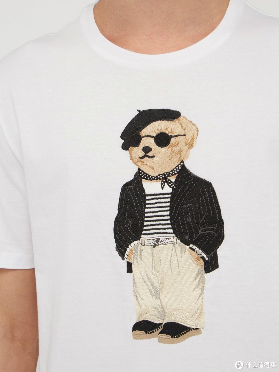 *级做工:Ralph Lauren 紫标 打造「Polo Bear」刺绣T恤