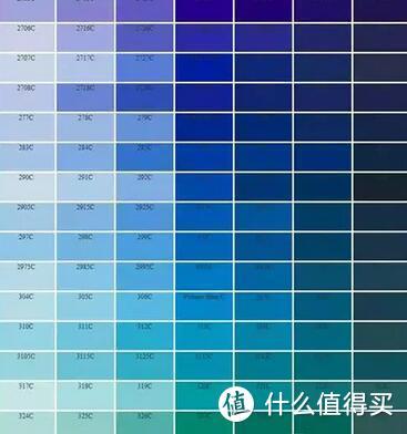 潘通色卡中的蓝色
