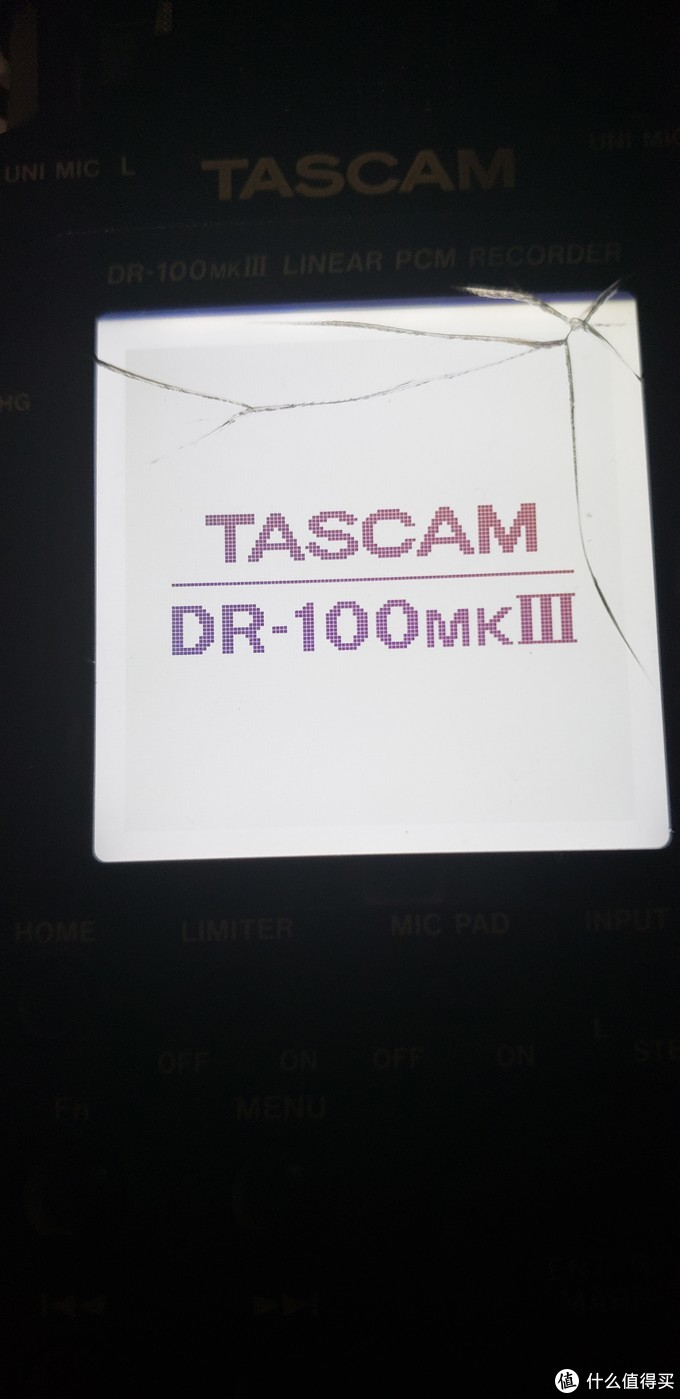 给碎屏的TSCAM DR-100MKIII更换屏幕