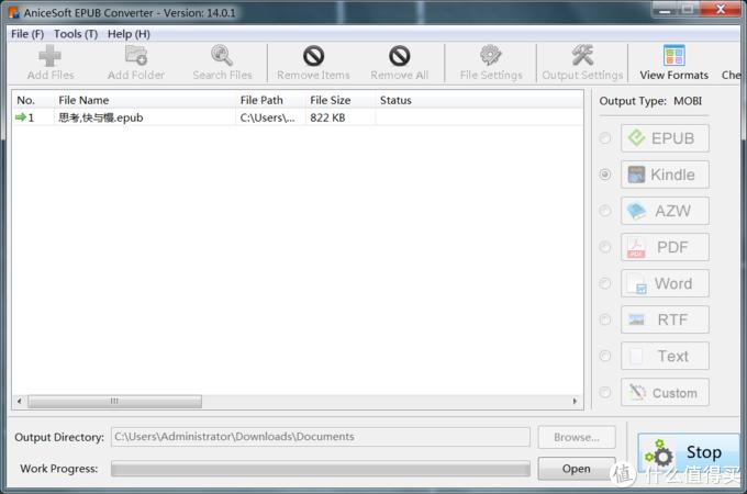 点击上侧add files添加文件,在右侧选择输出格式,在下侧选择输出目录,点击start就好了