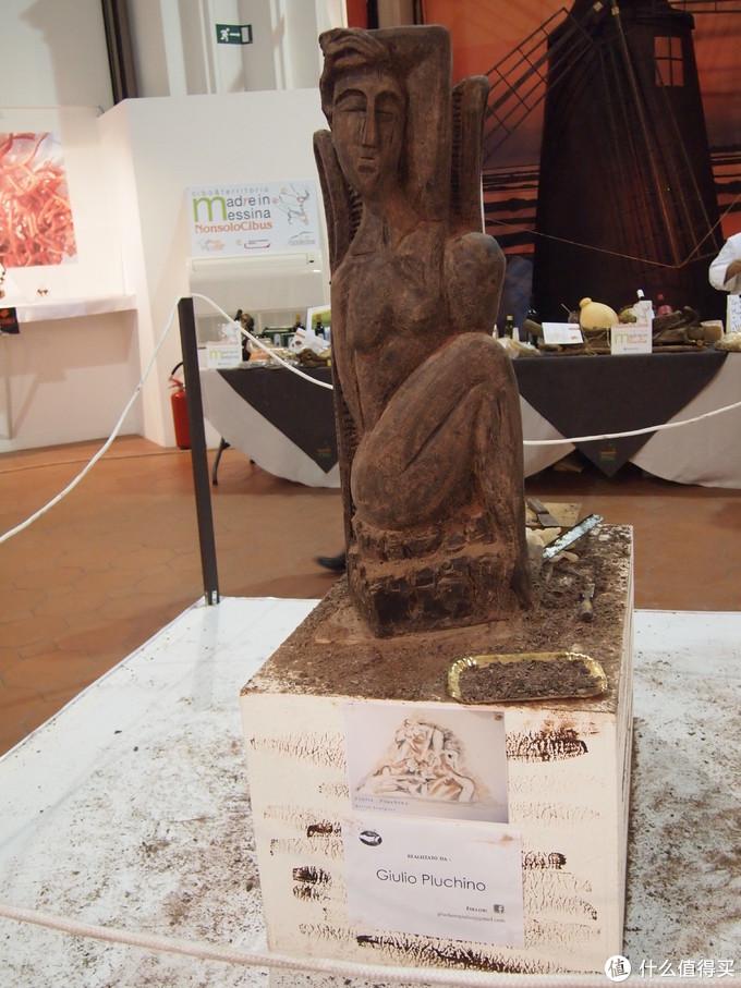 市里开放型巧克力展览作品,国外展览多~免费的展览更多哈!