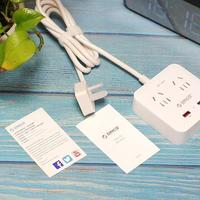 ORICO智能USB接线板开箱展示(插座口 正面 开关 底部)